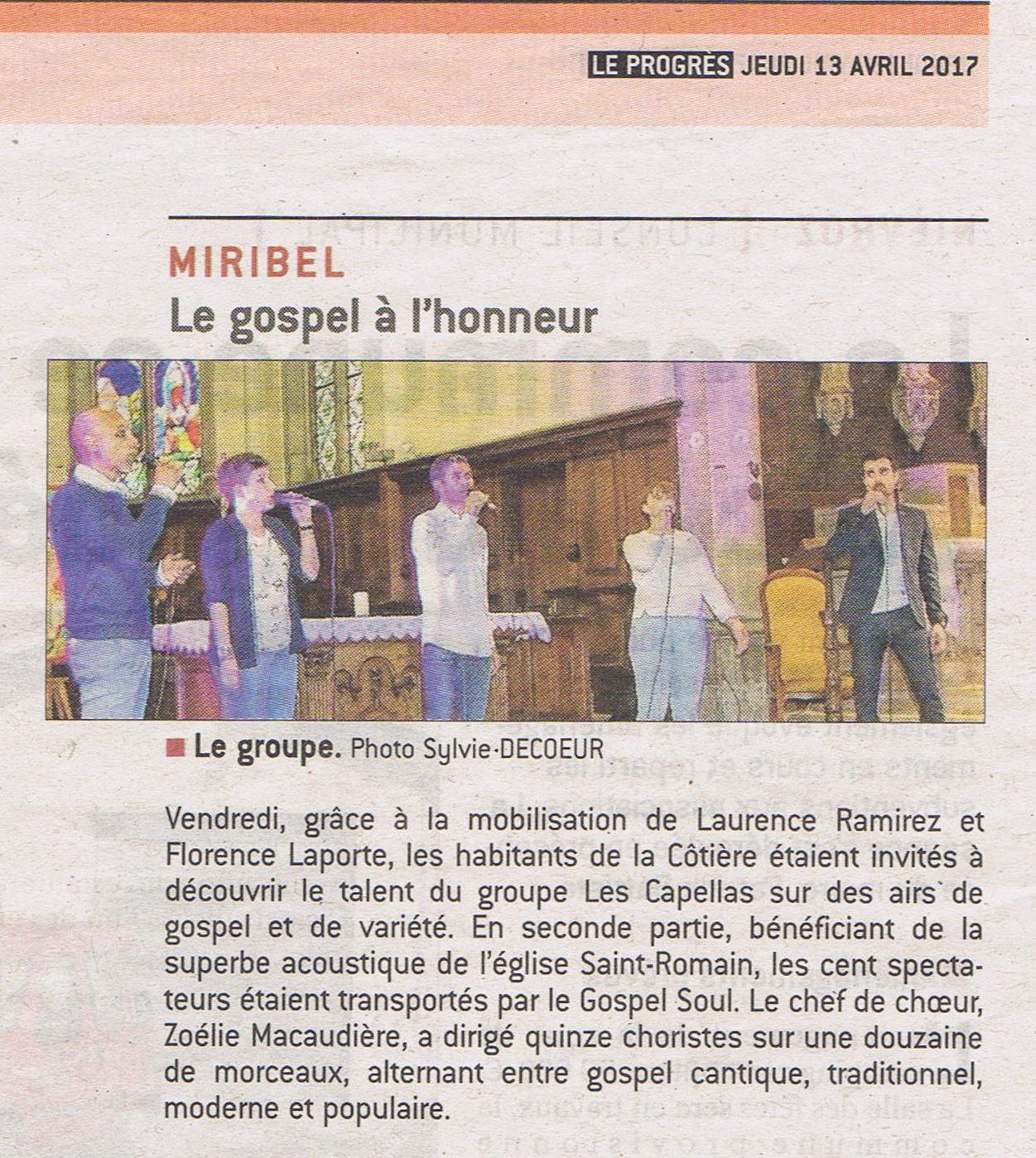 Concert en l'Eglise St Romain de Miribel